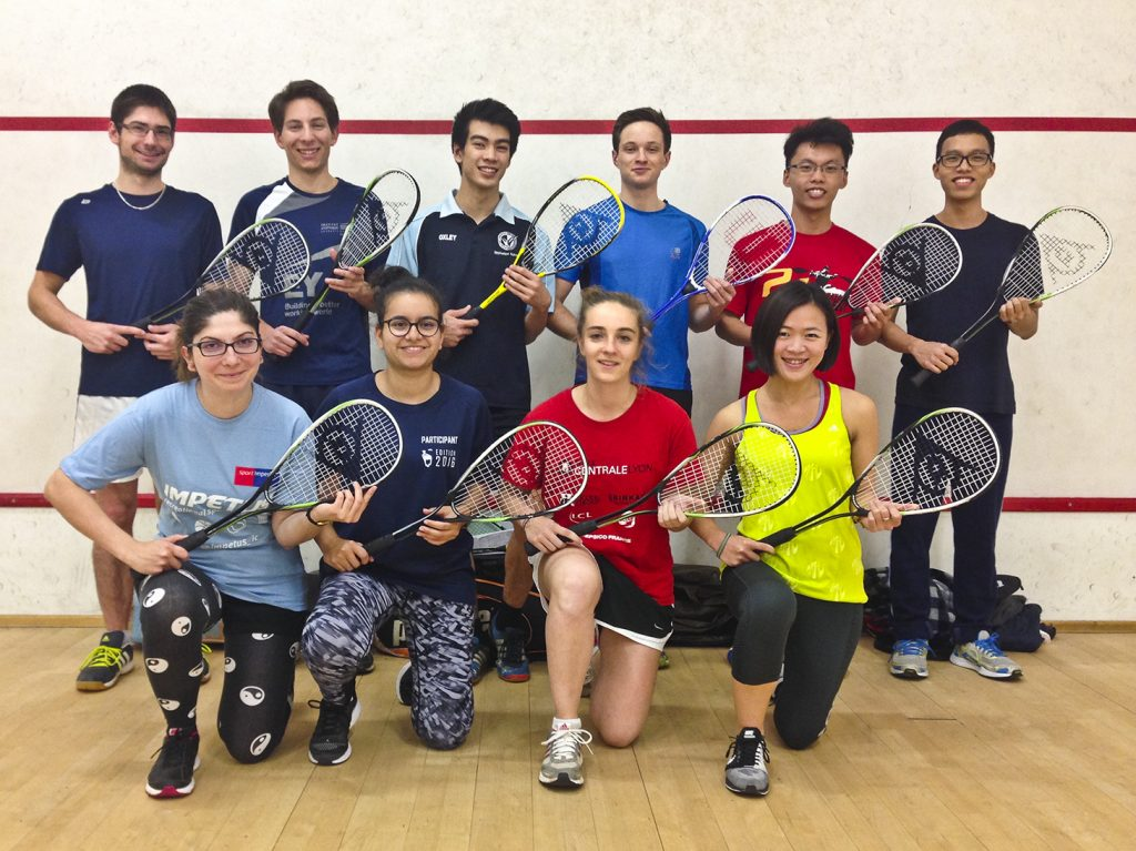 Squash players at Imperial College London