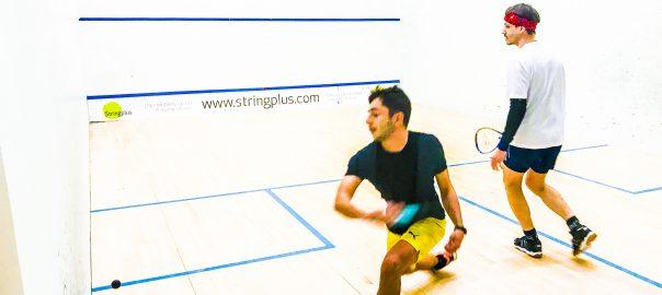 Squash match at Charing Cross Squash Club